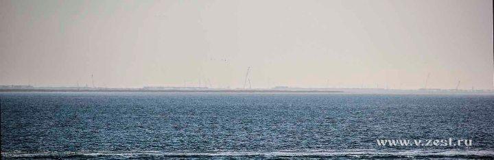 Строительство Крымского моста вид с парома